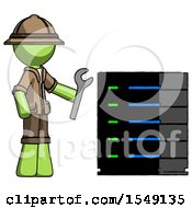Green Explorer Ranger Man Server Administrator Doing Repairs