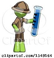 Green Explorer Ranger Man Holding Large Test Tube