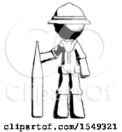 Ink Explorer Ranger Man Standing With Large Thermometer