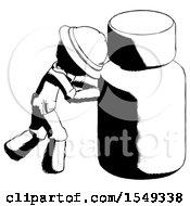 Ink Explorer Ranger Man Pushing Large Medicine Bottle