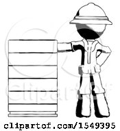 Ink Explorer Ranger Man With Server Rack Leaning Confidently Against It