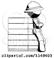 Ink Explorer Ranger Man Resting Against Server Rack Viewed At Angle