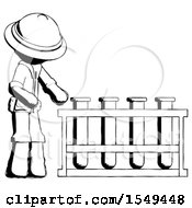 Ink Explorer Ranger Man Using Test Tubes Or Vials On Rack by Leo Blanchette