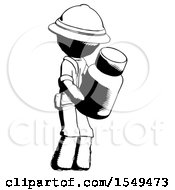Ink Explorer Ranger Man Holding Glass Medicine Bottle by Leo Blanchette