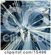 Blue Abstract Background With Shards Resembling Glass