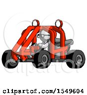Gray Doctor Scientist Man Riding Sports Buggy Side Angle View