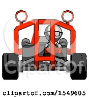 Gray Doctor Scientist Man Riding Sports Buggy Front View