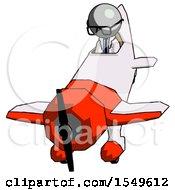 Gray Doctor Scientist Man In Geebee Stunt Plane Descending Front Angle View