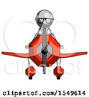 Gray Doctor Scientist Man In Geebee Stunt Plane Front View