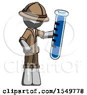 Gray Explorer Ranger Man Holding Large Test Tube