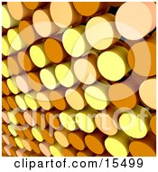 Abstract Background Of Yellow Orange And Peach Colored Dots Clipart Illustration Image