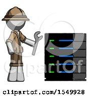 Gray Explorer Ranger Man Server Administrator Doing Repairs