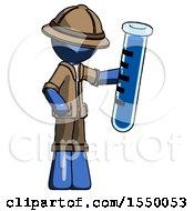 Blue Explorer Ranger Man Holding Large Test Tube
