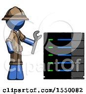 Blue Explorer Ranger Man Server Administrator Doing Repairs