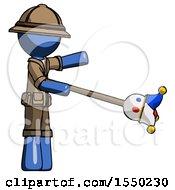 Blue Explorer Ranger Man Holding Jesterstaff I Dub Thee Foolish Concept