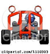 Blue Doctor Scientist Man Riding Sports Buggy Front View
