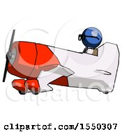 Blue Doctor Scientist Man In Geebee Stunt Aircraft Side View