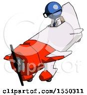 Blue Doctor Scientist Man In Geebee Stunt Plane Descending View
