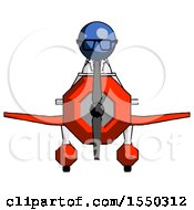 Blue Doctor Scientist Man In Geebee Stunt Plane Front View
