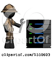 Black Explorer Ranger Man Server Administrator Doing Repairs