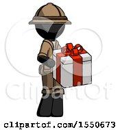 Black Explorer Ranger Man Giving A Present
