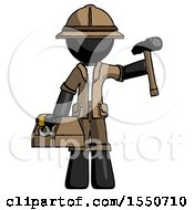 Black Explorer Ranger Man Holding Tools And Toolchest Ready To Work
