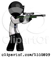 Poster, Art Print Of Black Doctor Scientist Man Shooting Sniper Rifle