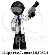 Poster, Art Print Of Black Doctor Scientist Man Holding Handgun