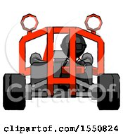 Black Doctor Scientist Man Riding Sports Buggy Front View