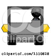 Black Doctor Scientist Man Driving Amphibious Tracked Vehicle Front View