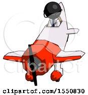 Black Doctor Scientist Man In Geebee Stunt Plane Descending Front Angle View