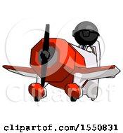 Black Doctor Scientist Man Flying In Geebee Stunt Plane Viewed From Below