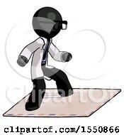 Black Doctor Scientist Man On Postage Envelope Surfing
