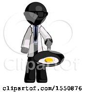 Poster, Art Print Of Black Doctor Scientist Man Frying Egg In Pan Or Wok