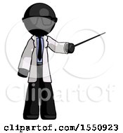 Black Doctor Scientist Man Teacher Or Conductor With Stick Or Baton Directing