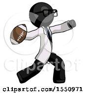 Black Doctor Scientist Man Throwing Football