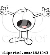 Clipart Of An Amused Moodie Character Gesturing This Big Royalty Free Vector Illustration