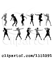 Silhouetted Female Dancers