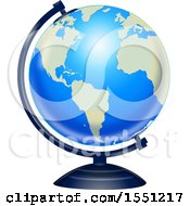 Poster, Art Print Of Blue Desk Globe
