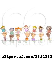 Clipart Of Hands Of Children With Finger Puppets Royalty Free Vector Illustration by BNP Design Studio