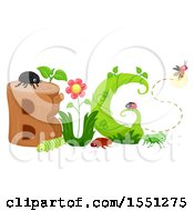 Clipart Of A Group Of Insects Forming The Word Bug Royalty Free Vector Illustration