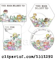 Poster, Art Print Of Book Label Designs With Children