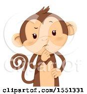 Monkey Mascot Thinking