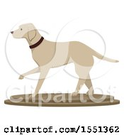 Clipart Of A Taxidermy Dog Statue Royalty Free Vector Illustration