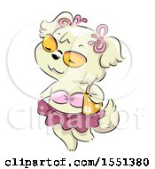 Clipart Of A Female Dog In A Bikini Royalty Free Vector Illustration