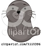Clipart Of A Cute Seal Royalty Free Vector Illustration by BNP Design Studio