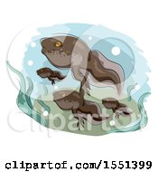 Clipart Of A Group Of Tadpoles Swimming Royalty Free Vector Illustration by BNP Design Studio