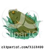 Clipart Of A Green Frog Royalty Free Vector Illustration by BNP Design Studio