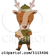 Clipart Of A Deer Scout Royalty Free Vector Illustration