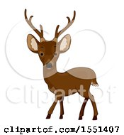 Clipart Of A Cute Calamian Deer Royalty Free Vector Illustration by BNP Design Studio